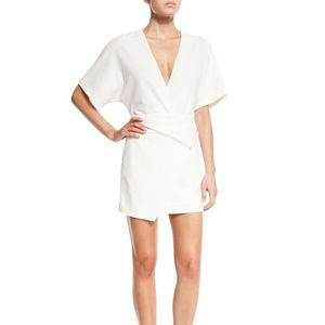Halston Heritage Short Dolman-Sleeve V-Neck Dress